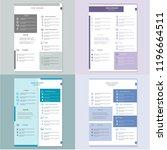 modern cv resume template vector | Shutterstock .eps vector #1196664511