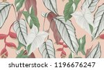 floral seamless pattern ... | Shutterstock .eps vector #1196676247