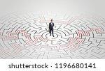 young entrepreneur standing in... | Shutterstock . vector #1196680141