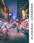 kobe   aug  18 2018  night life ...   Shutterstock . vector #1196683444