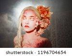 young beautiful girl elf.... | Shutterstock . vector #1196704654