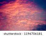 fantastic beautiful sunset and...   Shutterstock . vector #1196706181