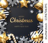 merry christmas background with ... | Shutterstock .eps vector #1196706391