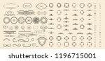 vector set of calligraphic... | Shutterstock .eps vector #1196715001