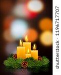 four advent christmas burning...   Shutterstock .eps vector #1196717707