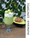 avocado yogurt or blended...   Shutterstock . vector #1196720911