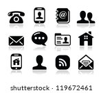 contact black icons set  ... | Shutterstock .eps vector #119672461