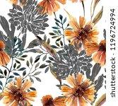 autumn background. abstract... | Shutterstock . vector #1196724994
