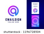 email sign logo and business... | Shutterstock .eps vector #1196728504