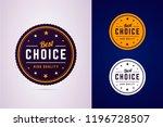 best choice round badge. vector ... | Shutterstock .eps vector #1196728507