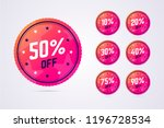 set of sale badges in modern ... | Shutterstock .eps vector #1196728534