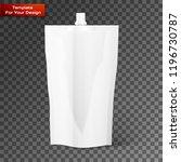 blank spout pouch  bag foil or... | Shutterstock .eps vector #1196730787