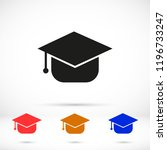 graduation cap vector icon | Shutterstock .eps vector #1196733247