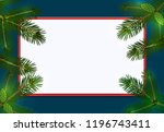 new year. christmas. green... | Shutterstock .eps vector #1196743411