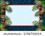 new year. christmas. postcard ... | Shutterstock .eps vector #1196743414