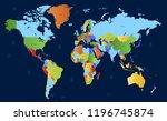 color world map vector | Shutterstock .eps vector #1196745874