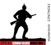 world war one german soldier...   Shutterstock .eps vector #1196746261