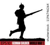 world war one german soldier...   Shutterstock .eps vector #1196746264