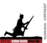 world war one german soldier...   Shutterstock .eps vector #1196746267