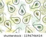 decorative seamless vector... | Shutterstock .eps vector #1196746414