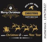 christmas vector logo for... | Shutterstock .eps vector #1196756527