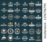 vintage retro vector logo for... | Shutterstock .eps vector #1196756794