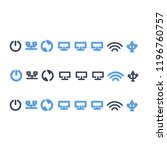 a set of telecommunications... | Shutterstock .eps vector #1196760757