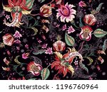 tropical fantasy floral... | Shutterstock .eps vector #1196760964