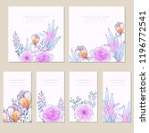collection of vector template... | Shutterstock .eps vector #1196772541