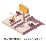 vector isometric low poly... | Shutterstock .eps vector #1196772577