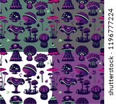 vector seamless pattern with... | Shutterstock .eps vector #1196777224