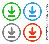download button. vector icon. | Shutterstock .eps vector #1196777707