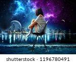 Digital Art Of Alone Girl...