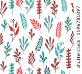 seamless hand drawn pattern... | Shutterstock .eps vector #1196781097