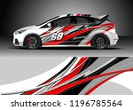 car wrap design vector.... | Shutterstock .eps vector #1196785564