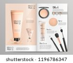 cosmetics products and make up... | Shutterstock .eps vector #1196786347