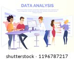 business data analysis cartoon... | Shutterstock .eps vector #1196787217
