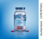 probiotics pills in branded ... | Shutterstock .eps vector #1196787601