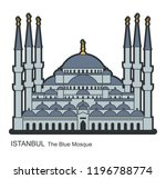 sultan ahmed mosque  istanbul ... | Shutterstock .eps vector #1196788774