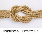 Doubled Reef Knot In Sisal Rop...