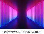 futuristic sci fi abstract blue ... | Shutterstock . vector #1196798884
