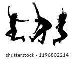vector silhouette of people who ... | Shutterstock .eps vector #1196802214