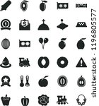 solid black flat icon set... | Shutterstock .eps vector #1196805577