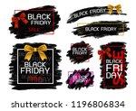black friday sale banner design ... | Shutterstock .eps vector #1196806834