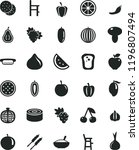 solid black flat icon set a... | Shutterstock .eps vector #1196807494
