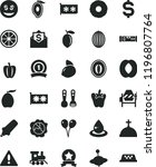 solid black flat icon set... | Shutterstock .eps vector #1196807764