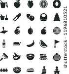 solid black flat icon set... | Shutterstock .eps vector #1196810521