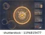 flat hud or set. hud technology ... | Shutterstock .eps vector #1196815477