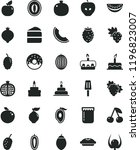 solid black flat icon set cake... | Shutterstock .eps vector #1196823007