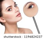 beautiful woman face with... | Shutterstock . vector #1196824237